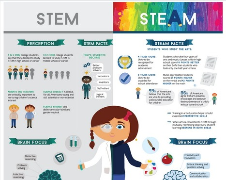 STEN vs STEAM - Why Art has Entered STEM (infographic) | NGOs in Human Rights, Peace and Development | Scoop.it