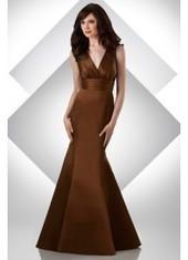 Trumpet Mermaid V Neck Floor Length Brown Bridesmaid Dress Bbbj0013 for $320 | 2014 landybridal wedding party dresses | Scoop.it
