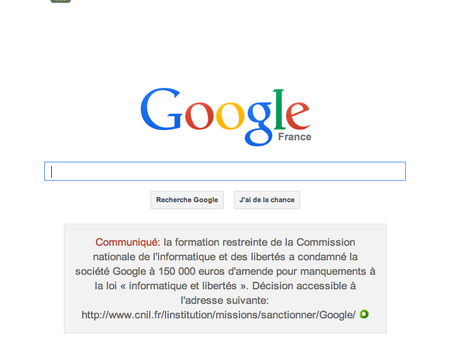 Google sanctionné par la CNIL | TICE, multimédia, droit & droits d'auteur | Scoop.it