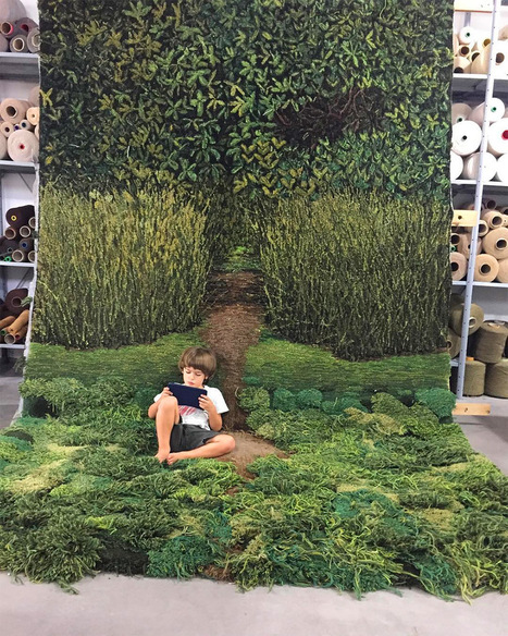 One-of-Kind Wool Rug Artworks by Alexandra Kehayoglou Mimic Rolling Pastures and Mossy Textures | Complexity Science | Scoop.it