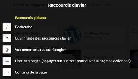 Les raccourcis clavier de Google+ | Time to Learn | Scoop.it
