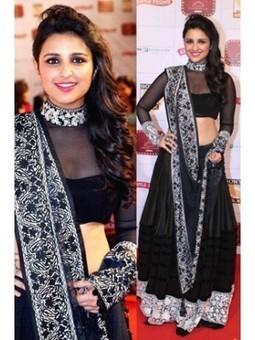 Buy Latest Designer Parineeti Chopra in Black Lehenga Choli | Online Shopping | Scoop.it
