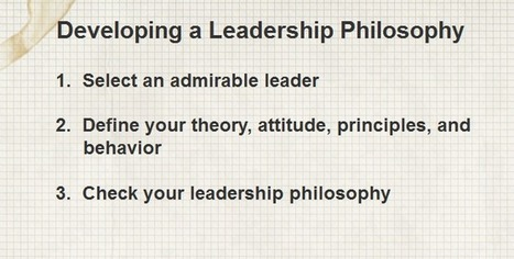 How to Develop a Leadership Philosophy? | About leadership | Scoop.it