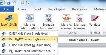 Word Blog - Make talking books within Word: Save as DAISY for Office 2010 | k12ebooks | Scoop.it
