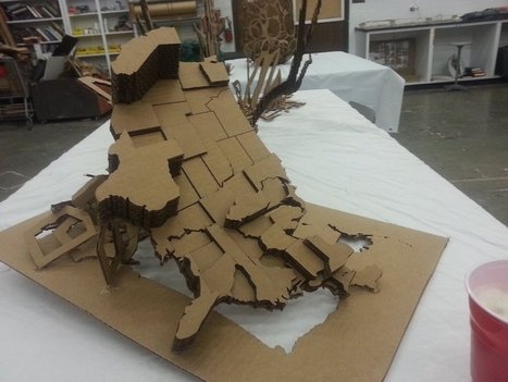 Student cardboard map project | World Geography in the classroom | Scoop.it