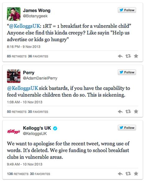 Nas Redes Sociais | Kellogg's promete comida para crianças pobres em troca de retuites - depois pede desculpas | Akatu - Resumão Semanal de Mídia | Scoop.it