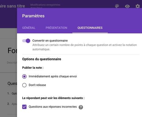 Google Formulaire - Un gros ajout avant les vacances : Feed-back possible ;-) | Ressources pour les TICE en primaire | Scoop.it