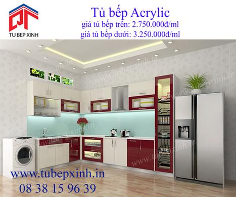 tủ bếp đẹp, tu bep dep, tủ bếp xinh, kệ bếp Acrylic, phụ kiện tủ bếp Hettich | TỦ BẾP ACRYLIC - GIÁ TỦ BẾP ACRYLIC | Scoop.it