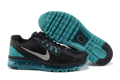 Nike Running Air Max + 2013 Black Reflective Silver Sport Turquoise Athletic Shoes | new and share style | Scoop.it