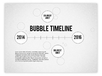 Bubble Timeline | PowerPoint Diagrams, Charts, and Shapes | Scoop.it