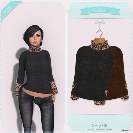 Jie Sweater Group Gift by AUSHKA&CO | Teleport Hub - Second Life Freebies | Second Life Freebies | Scoop.it