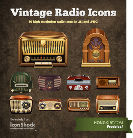 Free Vintage Radio Vector Icons | Free Design Resource Roundups | Scoop.it