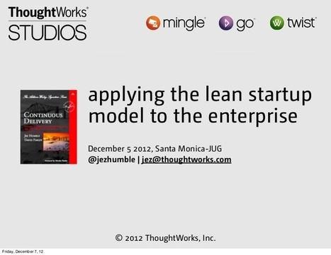 Applying the Lean Startup Model to the Enterpri... | lean startup | Scoop.it