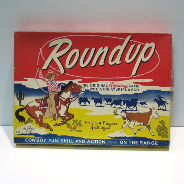 Vintage 1946 Roundup Game - The Original Roping Game | Antiques & Vintage Collectibles | Scoop.it