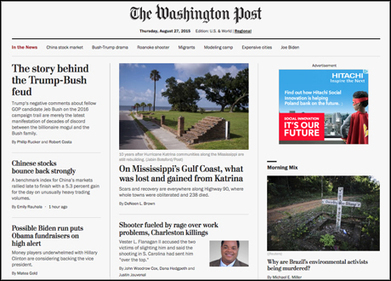 New Washington Post 'flexible' homepage completes site redesign | Multimedia Journalism | Scoop.it