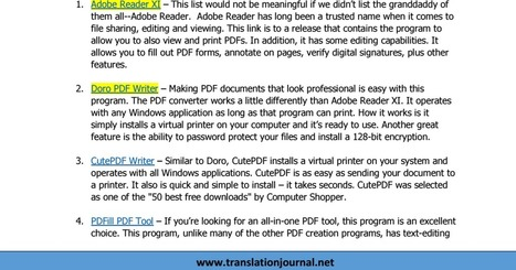 9 Free tools to create Pdfs | apps for libraries | Scoop.it