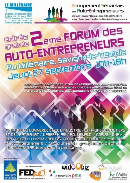 Forum des Auto-Entrepreneurs 27 septembre 2012 | Auto-entreprise | Scoop.it