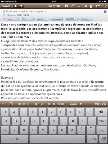 Écrire avec son iPad : les «complets» | HigherEd, Foreign Languages, Web 2.0... | Scoop.it