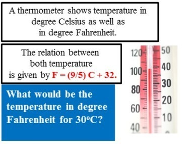 What would be the temperature in degree Fahrenheit?   THE MORE YOU PRACTICE MATHS, THE MORE SURE YOU ARE!   Scoop.it