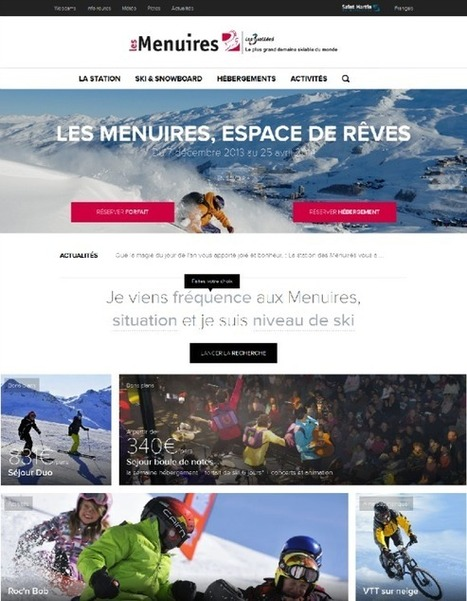 Nouveaux sites web de destinations touristiques (Janvier 2014) | Our work | Scoop.it