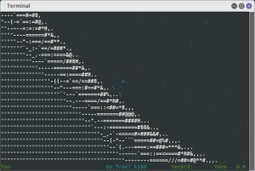 Asciijump – The Ski-jumping Terminal Game | Delightly Linux | ASCII Art | Scoop.it