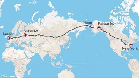 La Russie envisage de construire une route reliant Londres à New York en passant par Moscou et l'Alaska | Géopolitique & Cartographie | Scoop.it