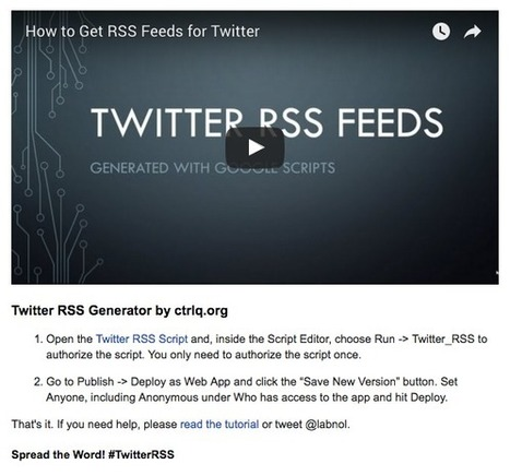 How to Convert Twitter Lists Into RSS Feeds | teaching with technology | Scoop.it