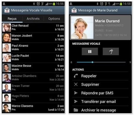 Mise à jour de la « Messagerie vocale visuelle » de Free Mobile ... - Univers Freebox | Richard Dubois Freebox Addict | Scoop.it