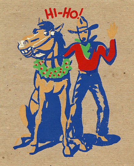 Vintage Cowboy Christmas Art! | Horse and Rider Awareness | Scoop.it
