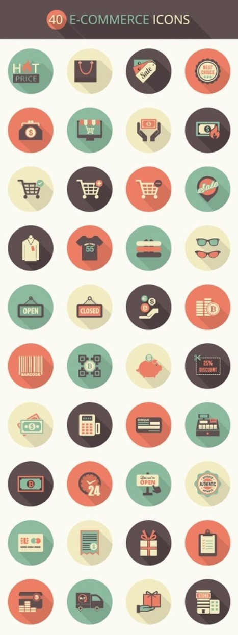 Collection of Best Free eCommerce Vector Icons | Web & Graphic Design - Inspirational resources and tips!!! | Scoop.it
