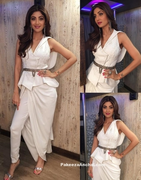 Shilpa Shetty in Peplum Jacket and Drape Trousers for Women | Indian Fashion Updates | Scoop.it