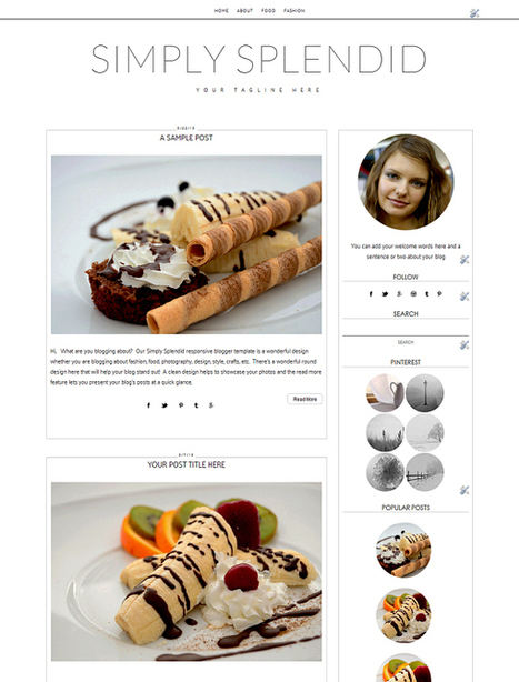 Blogger Templates, Cute and Chic Blogger Templates, | Blogger themes | Scoop.it