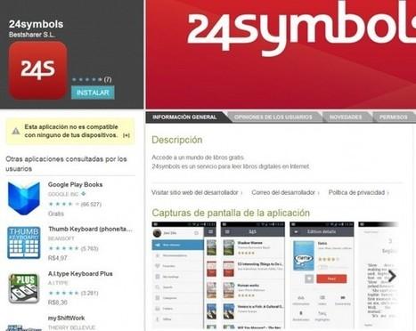 24symbols, para leer libros digitales, ya tiene aplicación para Android | Recull diari | Scoop.it