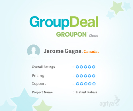 Agriya GroupDeal - Client - Review - Groupon Clone | Group Buying Script | Scoop.it