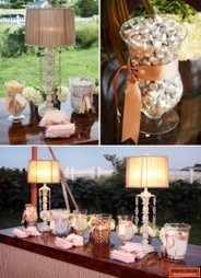 Lamps added to candy buffets is so romantic! | Candy Buffet Weddings, Events, Food Station Buffets and Tea Parties | Scoop.it