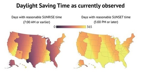 Here's How Daylight Saving Time Affects Your Part of the Country | Fantastic Maps | Scoop.it