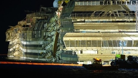 Costa Concordia righted after massive salvage effort | DiverSync | Scoop.it
