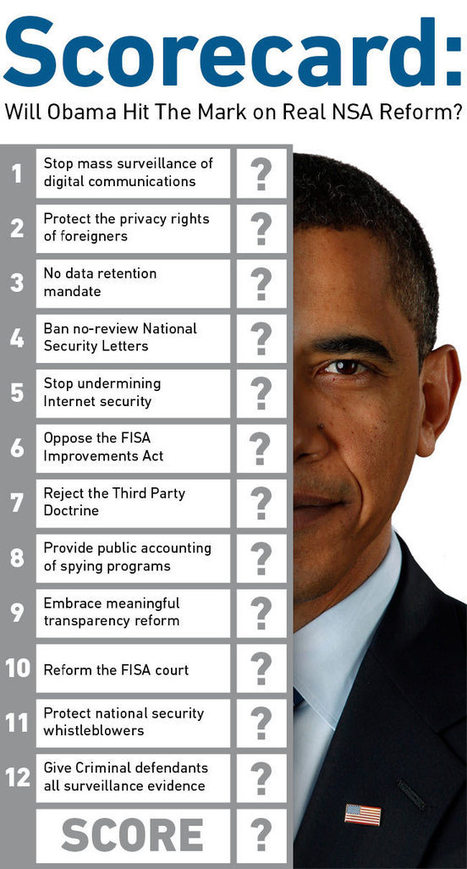 Scorecard: Will Obama Hit the Mark on Real NSA Reform? | AUSTERITY & OPPRESSION SUPPORTERS  VS THE PROGRESSION Of The REST OF US | Scoop.it
