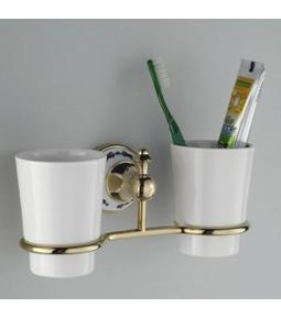Modern Wall Mounted Toothbrush Tumbler Holder in Polished Brass G-208 | LED Bathroom Faucet | Scoop.it