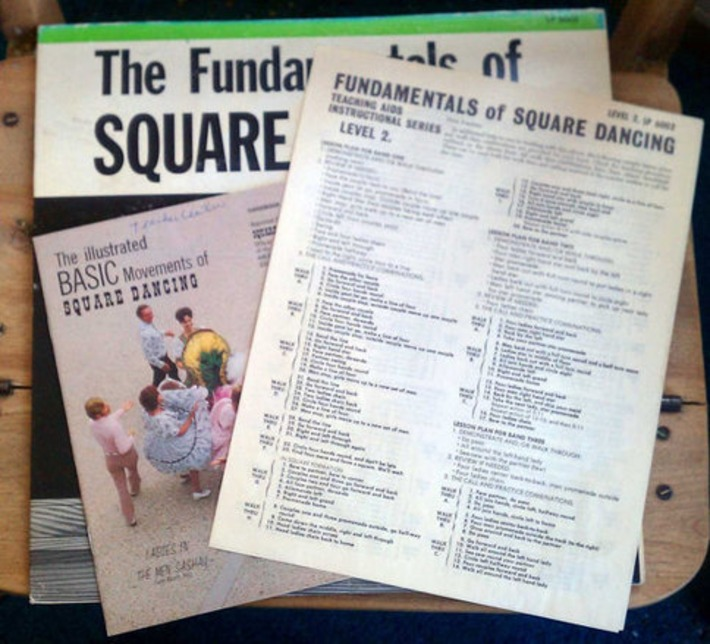 Vintage Fundamentals of Square Dancing LP by Sets In Order & 2 Illustrated Square Dance Instruction Booklets | Antiques & Vintage Collectibles | Scoop.it