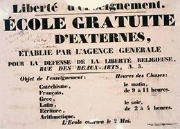 La première tentative d'« école libre » (1831) - L'Histoire par l'image | GenealoNet | Scoop.it