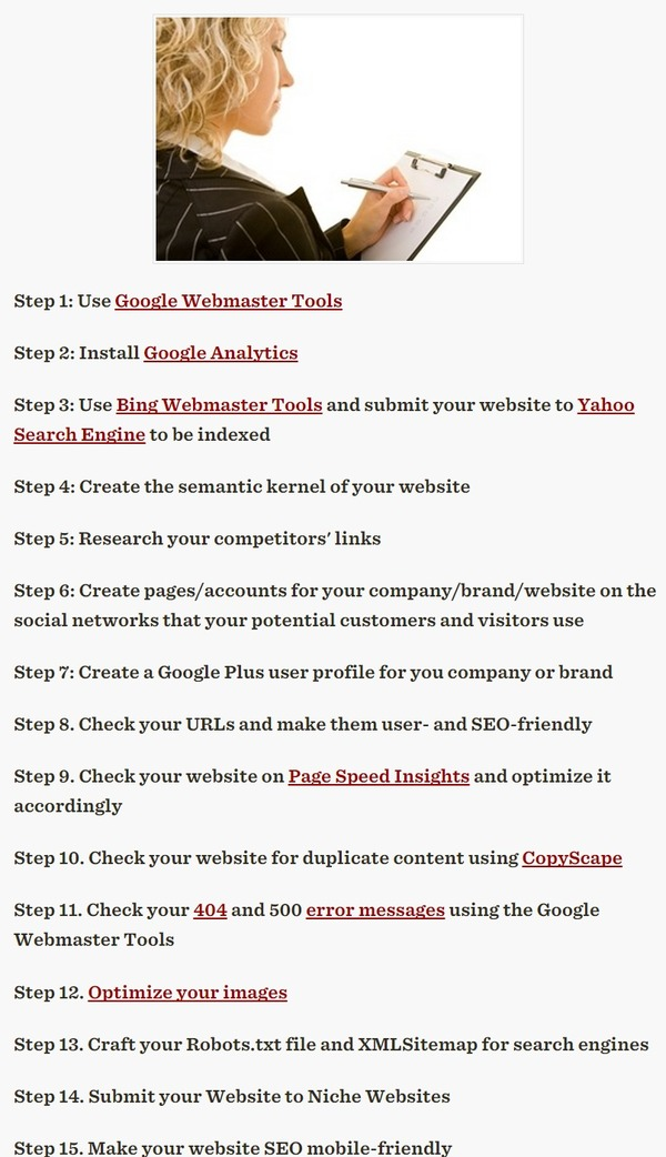 SEO Checklist: 15 Steps to Optimize Your Website - Profs | The Marketing Technology Alert | Scoop.it