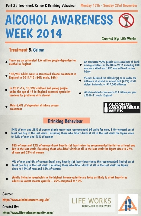 Alcohol Infographic on Crime and Treatment | Alcohol Addiction | Scoop.it
