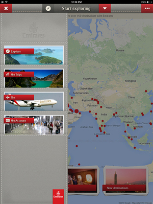 Emirates dévoile son application iPad - Business travel | Business Travel Industry news | Scoop.it
