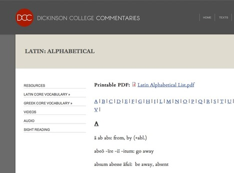 Latin: Alphabetical | Dickinson College Commentaries | Net-plus-ultra | Scoop.it