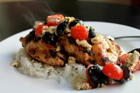 #HEALTHYRECIPE - Greek Chicken with Feta, Olive, and Tomato Salad | Health and well-being | Scoop.it