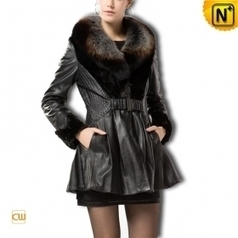 Women Sheepskin Leather Coat CW610026 - cwmalls.com | Fur Trimmed Coats | Scoop.it