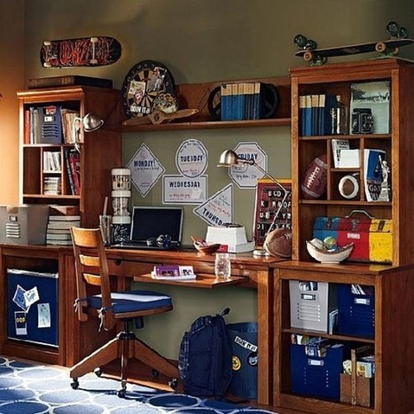 35 contemporary teen workspace ideas to fit in perfectly with modern interiors | Designing Interiors | Scoop.it