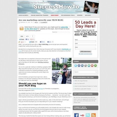 Are you marketing correctly your MLM BLOG | Real Estate Investing and some | Scoop.it