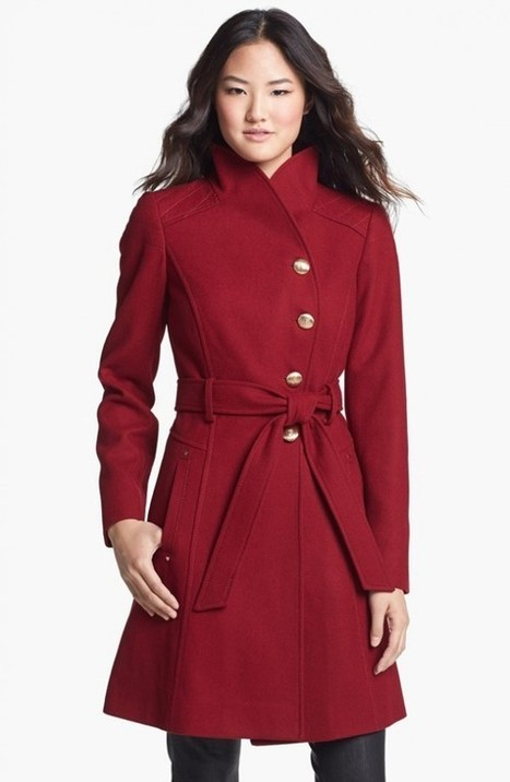 4 beautiful women's red coats from GUESS and Robbi & Nikki for under $200 on Nordstrom | fashion deals | Scoop.it